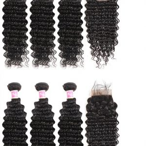 100% Brazilian Human Hair Straight (Deep Wave Bundles)