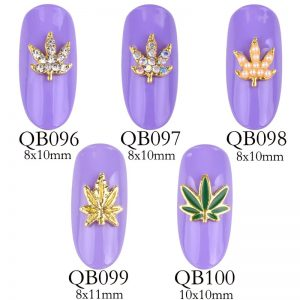 Nail Accessories – 3D golden leaves / Body Art