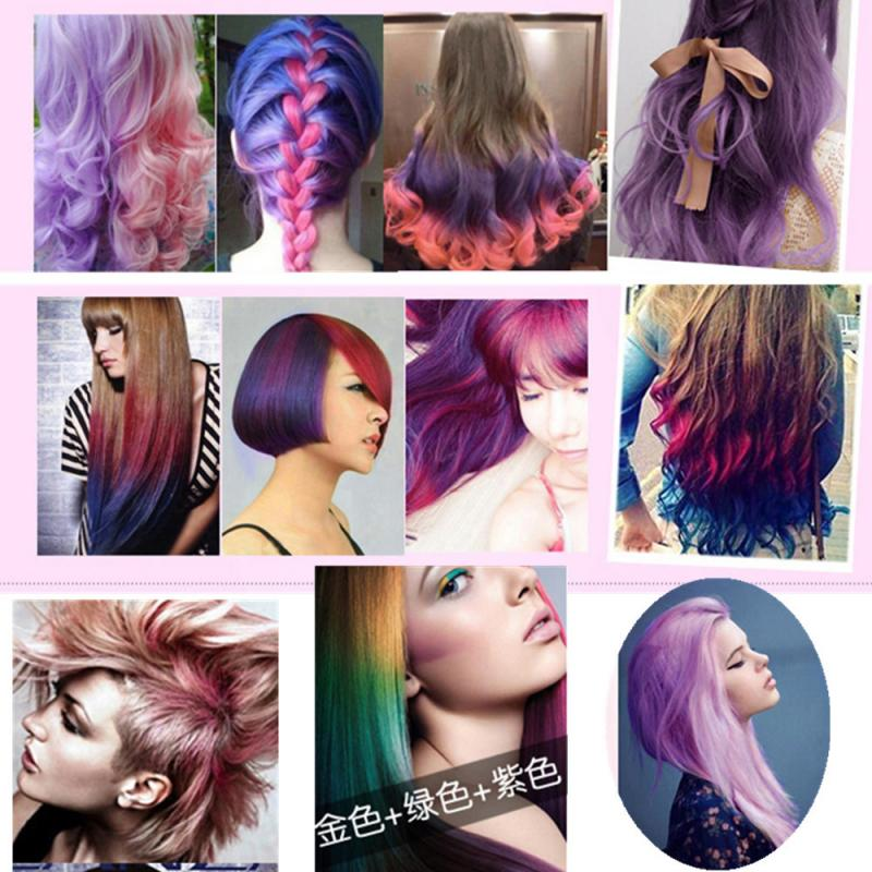 12 Colors Mini Disposable Personal Salon Use Temporary Hair Dye Cream Easy Coloring Quick-Drying Hair Mascara Pencil TSLM1