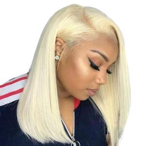 Malaysian Pink / Blue /Blonde Straight Lace Front Wig