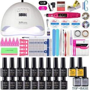 Nail Set / UV LED Lamp Dryer With 18/12 pcs Nail Gel Polish Kit
