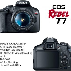 Canon EOS Rebel T7 DSLR Camera Bundle with Canon EF-S 18-55mm f/3.5-5.6 is II Lens